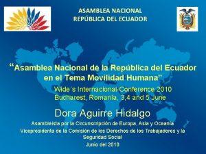 ASAMBLEA NACIONAL REPBLICA DEL ECUADOR Asamblea Nacional de