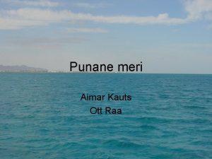 Punane meri Aimar Kauts Ott Raa Punanse mere