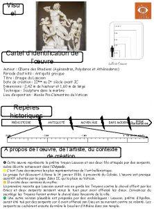 Visu el Cartel didentification de luvre Auteur uvre