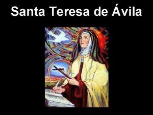 Santa Teresa de vila Nada te turbe nada