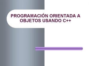 PROGRAMACIN ORIENTADA A OBJETOS USANDO C 2 INDICE
