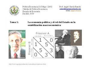 Poltica Econmica I Cdigo 2241 Ctedra de Poltica
