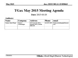 May 2015 doc IEEE 802 11 150500 r