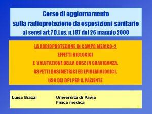 Corso di aggiornamento sulla radioprotezione da esposizioni sanitarie
