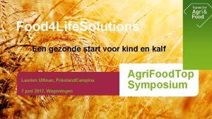 Food 4 Life Solutions Een gezonde start voor