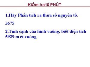 Kim tra 10 PHT 1 Hy Phn tch
