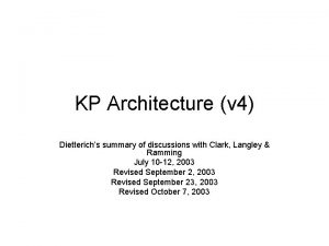 KP Architecture v 4 Dietterichs summary of discussions