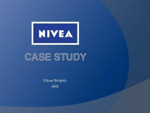 CASE STUDY Hisham Bin Sefrah 18686 1 What