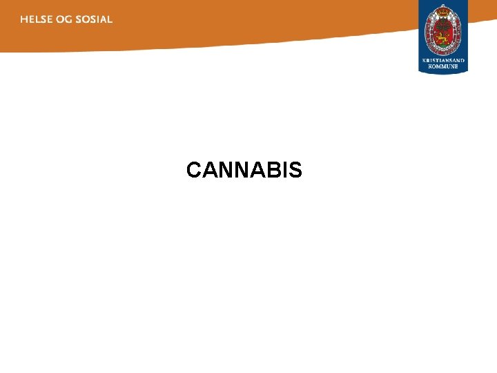 CANNABIS Hvorfor er forebyggingavdekking av cannabismisbruk viktig Cannabis