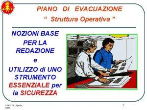 PIANO DI EVACUAZIONE Struttura Operativa NOZIONI BASE PER