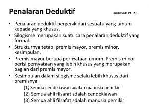 Penalaran Deduktif Bella Slide 190 201 Penalaran deduktif