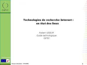 Technologies de recherche Internet un tat des lieux
