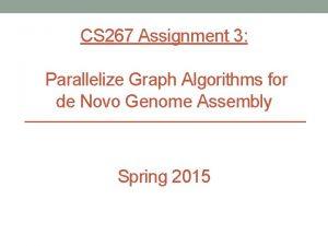 CS 267 Assignment 3 Parallelize Graph Algorithms for