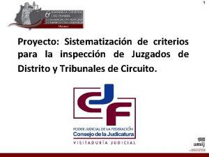 1 Proyecto Sistematizacin de criterios para la inspeccin
