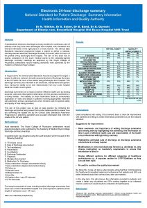 Electronic 24 hour discharge summary National Standard for