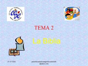 TEMA 2 La Biblia 27 10 2020 primeracomunionsagradocorazon