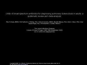 Utility of broadspectrum antibiotics for diagnosing pulmonary tuberculosis