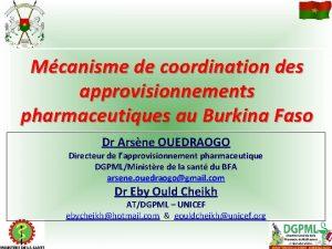 Mcanisme de coordination des approvisionnements pharmaceutiques au Burkina