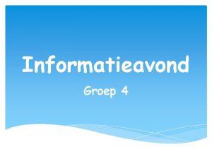 Informatieavond Groep 4 Lezen Technisch Lezen Methode Leeslijn