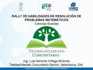 RALLY DE HABILIDADES EN RESOLUCIN DE PROBLEMAS MATEMTICOS