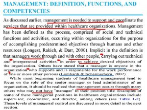 Other management positions COMPETENCIES Con Cont Cont Organizational