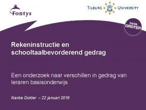 Rekeninstructie en schooltaalbevorderend gedrag Een onderzoek naar verschillen
