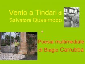 Vento a Tindari di Salvatore Quasimodo Poesia multimediale