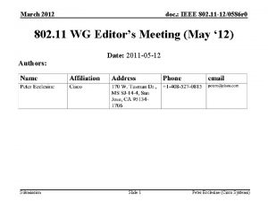 March 2012 doc IEEE 802 11 120586 r