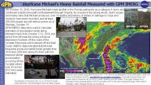 Hurricane Michaels Heavy Rainfall Measured with GPM IMERG