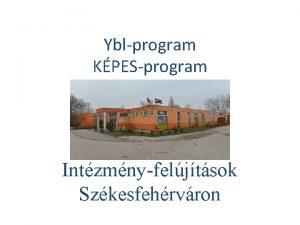 Yblprogram KPESprogram Intzmnyfeljtsok Szkesfehrvron Intzmny tpusa Oktatsi voda