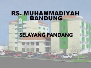 RS MUHAMMADIYAH BANDUNG SELAYANG PANDANG IDENTITAS RUMAH SAKIT