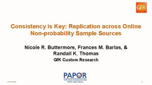 Consistency is Key Replication across Online Nonprobability Sample