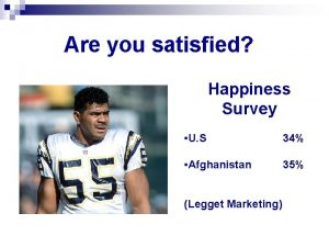 Are you satisfied Happiness Survey U S 34