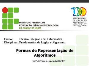 Curso Tcnico Integrado em Informtica Disciplina Fundamentos de