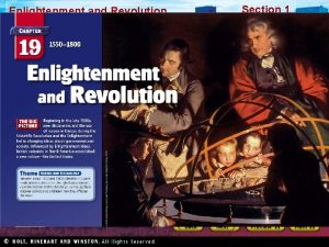 Enlightenment and Revolution Section 1 Enlightenment and Revolution