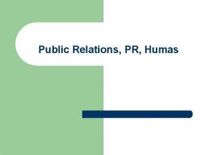 Public Relations PR Humas Institute of Public Relations