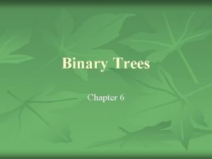 Binary Trees Chapter 6 Linked Lists Suck n