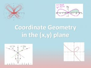 Coordinate Geometry in the x y plane Introduction