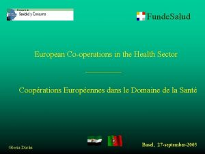 Funde Salud European Cooperations in the Health Sector