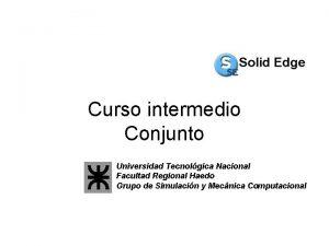 Curso intermedio Conjunto Universidad Tecnolgica Nacional Facultad Regional