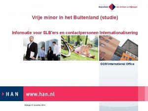 Vrije minor in het Buitenland studie Informatie voor