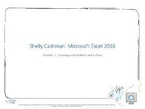 Shelly Cashman Microsoft Excel 2016 Module 1 Creating