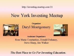 http investing meetup com21 New York Investing Meetup