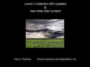 Level3 Collection 005 Updates New Web Site Content
