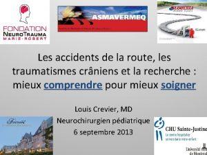 Les accidents de la route les traumatismes crniens