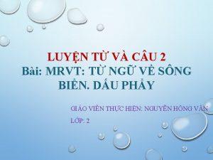 LUYN T V C U 2 Bi MRVT