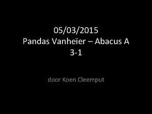 05032015 Pandas Vanheer Abacus A 3 1 door