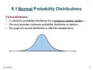 5 1 Normal Probability Distributions Normal distribution A
