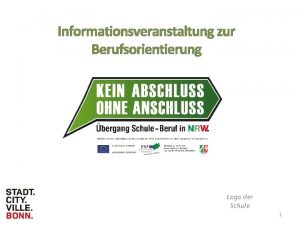 Informationsveranstaltung zur Berufsorientierung Logo der Schule 1 DAS