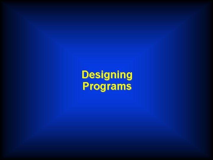 Designing Programs COBOL u COBOL is an acronym